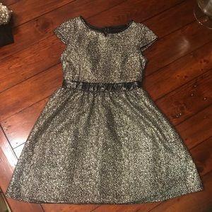 Xhilaration s 6/6x Black/gold dress